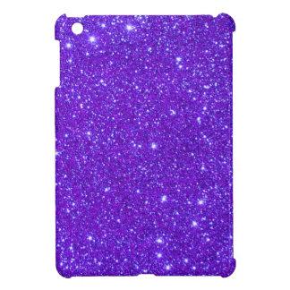 紫色の輝きのグリッターはあなた専有物をカスタム設計します iPad MINI カバー