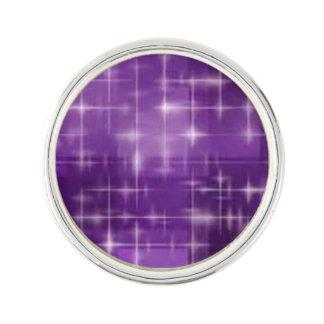 紫色の輝き ラペルピン