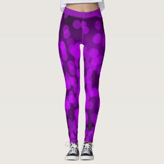 紫色の輝き レギンス