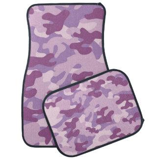 紫色の迷彩柄のデザイン カーマット