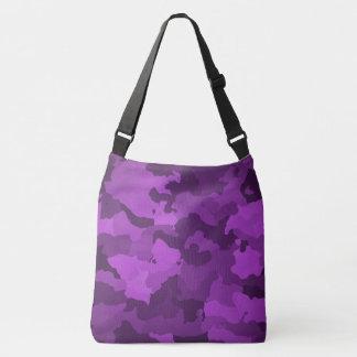 紫色の迷彩柄 クロスボディバッグ