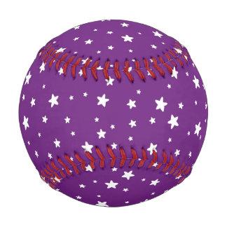 紫色の野球の白い星 ベースボール