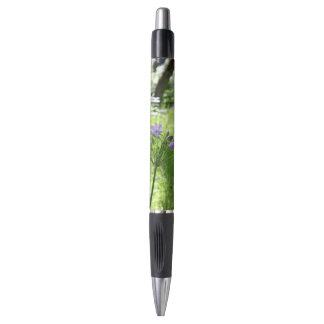 紫色の野生の花のペン ボールペン