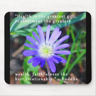 紫色の野生の花の感動的なマウスパッド マウスパッド