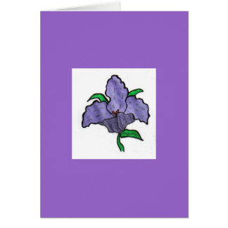 紫色の野生の花 カード