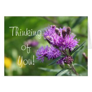 紫色の野生の花 ノートカード