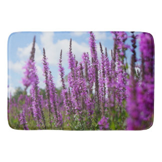 紫色の野生の花、大きいバス・マット バスマット