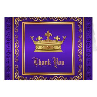 紫色の金ゴールドの王冠は感謝していしています カード