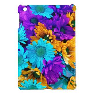 紫色の金ゴールドNのターコイズのデイジー iPad MINI CASE