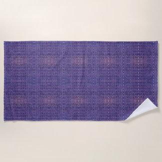 紫色の金属のチェーン・メールの金属中世スタイル ビーチタオル