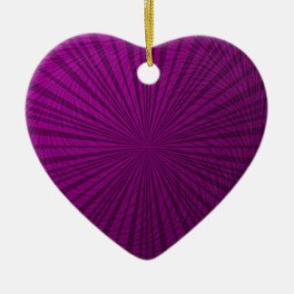 紫色の金属錯覚 セラミックオーナメント