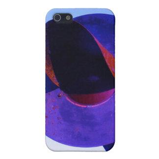 紫色の鉄道列車の警報器 iPhone 5 ケース