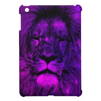 紫色の銀河系の水彩画のライオン iPad MINI カバー