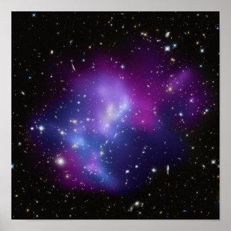 紫色の銀河系の集り ポスター