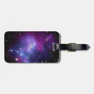 紫色の銀河系の集り ラゲッジタグ