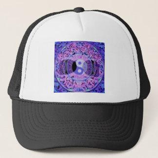 紫色の陰陽 キャップ