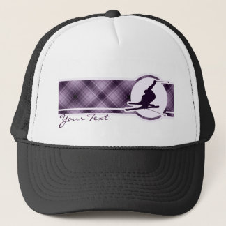 紫色の雪のスキー キャップ