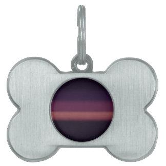 紫色の雪 ペットネームタグ