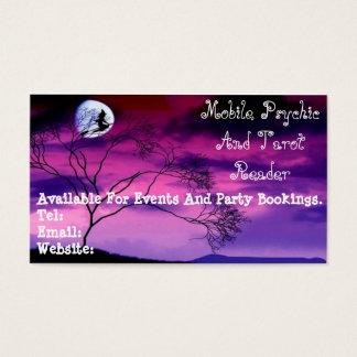 紫色の霊魂およびタロットの読者の名刺 名刺