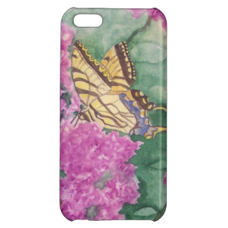 紫色の霞のカフェのiPhone 5cケース iPhone5Cカバー
