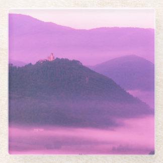 紫色の霞 ガラスコースター