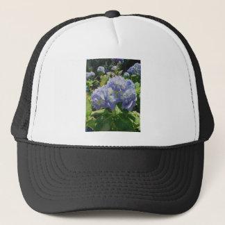 紫色の青いアジサイ キャップ