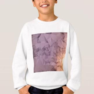 紫色の青いオレンジの抽象芸術の低い多角形Backgrou スウェットシャツ