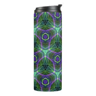 紫色の青いネオンによって着色されるパターン タンブラー
