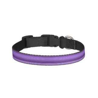 紫色の青いピンクのストライプパターン ペット首輪