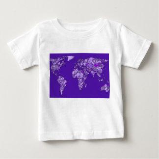 紫色の青い地図 ベビーTシャツ