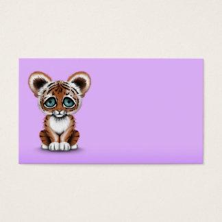紫色の青い目を持つかわいいベビーの虎の子 名刺