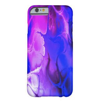 紫色の青い電気軽減の芸術のカッコいいの箱 BARELY THERE iPhone 6 ケース