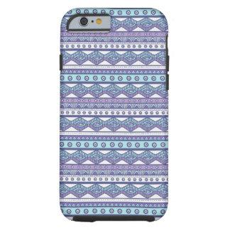 紫色の青くアステカでスタイリッシュで堅いiPhone6ケース iPhone 6 タフケース