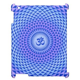 紫色の青のはすの花の黙想の車輪OM iPadケース