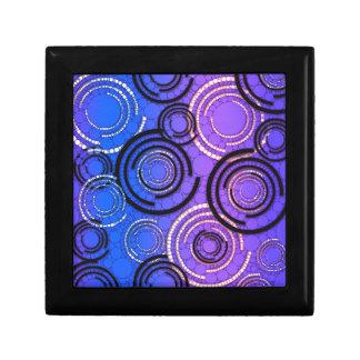紫色の青の抽象芸術の円 ギフトボックス