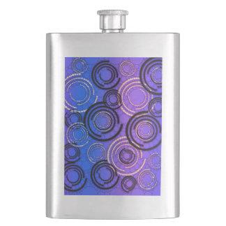 紫色の青の抽象芸術の円 フラスク