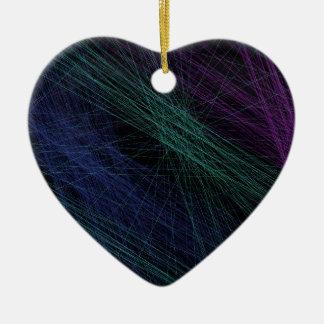 紫色の青緑のレーザー光線ショーの抽象芸術 セラミックオーナメント