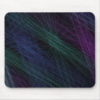 紫色の青緑のレーザー光線ショーの抽象芸術 マウスパッド