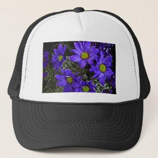 紫色の青緑の菊 キャップ