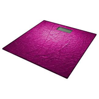 紫色の革質感 体重計