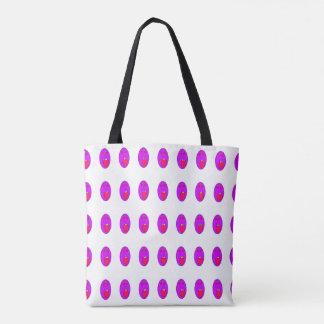紫色の顔のバッグ トートバッグ
