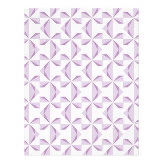 紫色の風車のスクラップブックの紙 レターヘッド