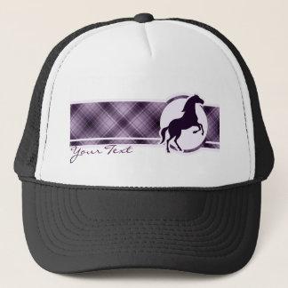 紫色の馬 キャップ