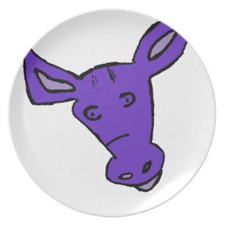 紫色の馬 プレート