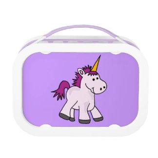 紫色の鬣のランチボックスとのベビーのユニコーン ランチボックス