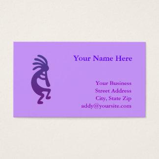 紫色の魔法のココペリ 名刺