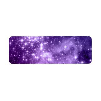 紫色の魔法の星 ラベル