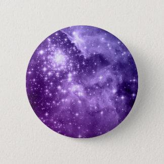紫色の魔法の星 5.7CM 丸型バッジ