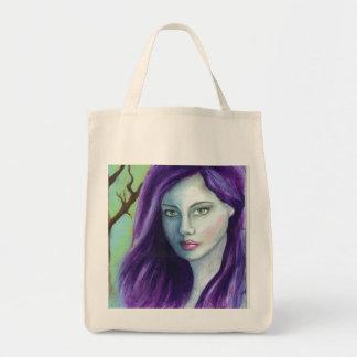 紫色の魔法使い トートバッグ