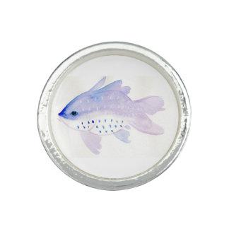 紫色の魚のリング リング